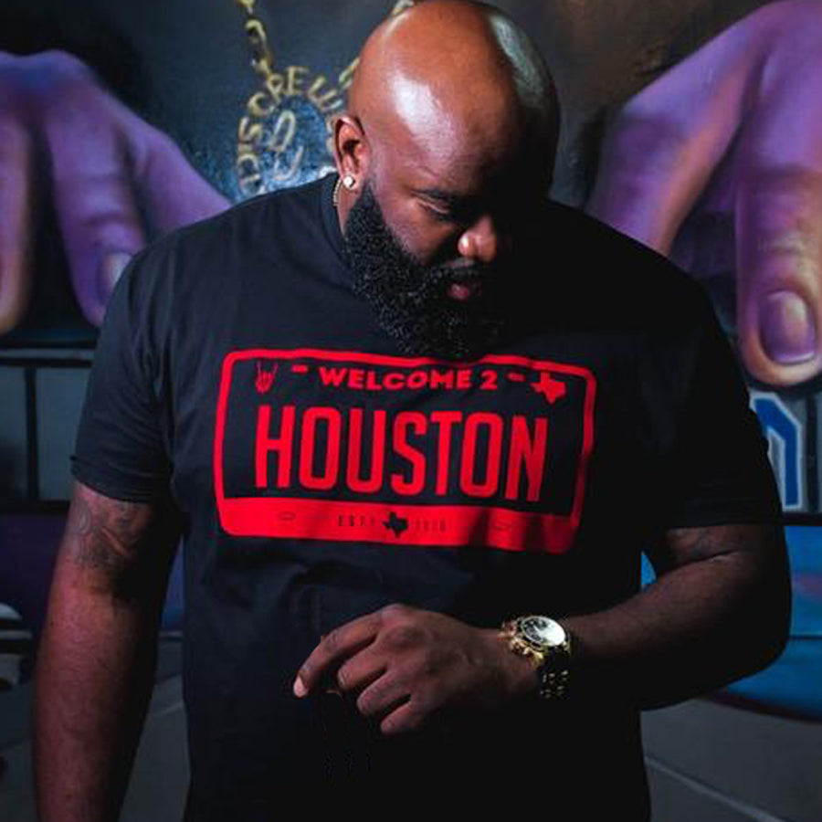 "HoggLife ""Welcome 2 Houston"" Tee -Black/Red"