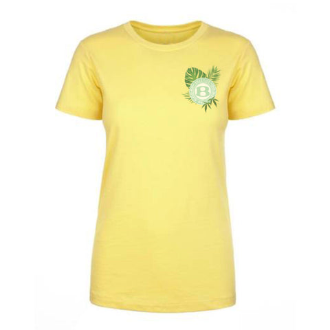 "BossLife ""Circle B Leaf"" Women's Tee - Yellow/Multi"