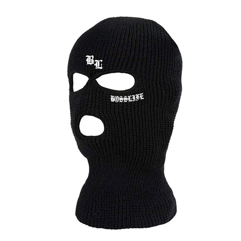 "BossLife ""OG"" Ski Mask - Black/White"