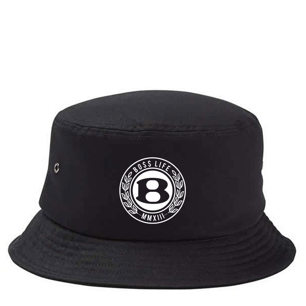 "BossLife ""Circle B"" Bucket Hat - Black/White"