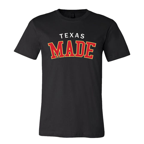 "HoggLife ""Texas Made"" Tee - Black/White/Yellow/Red"