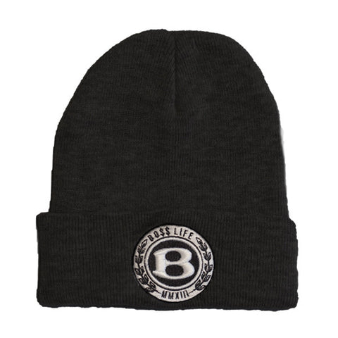 "BossLife ""Circle B"" Beanie - Black"