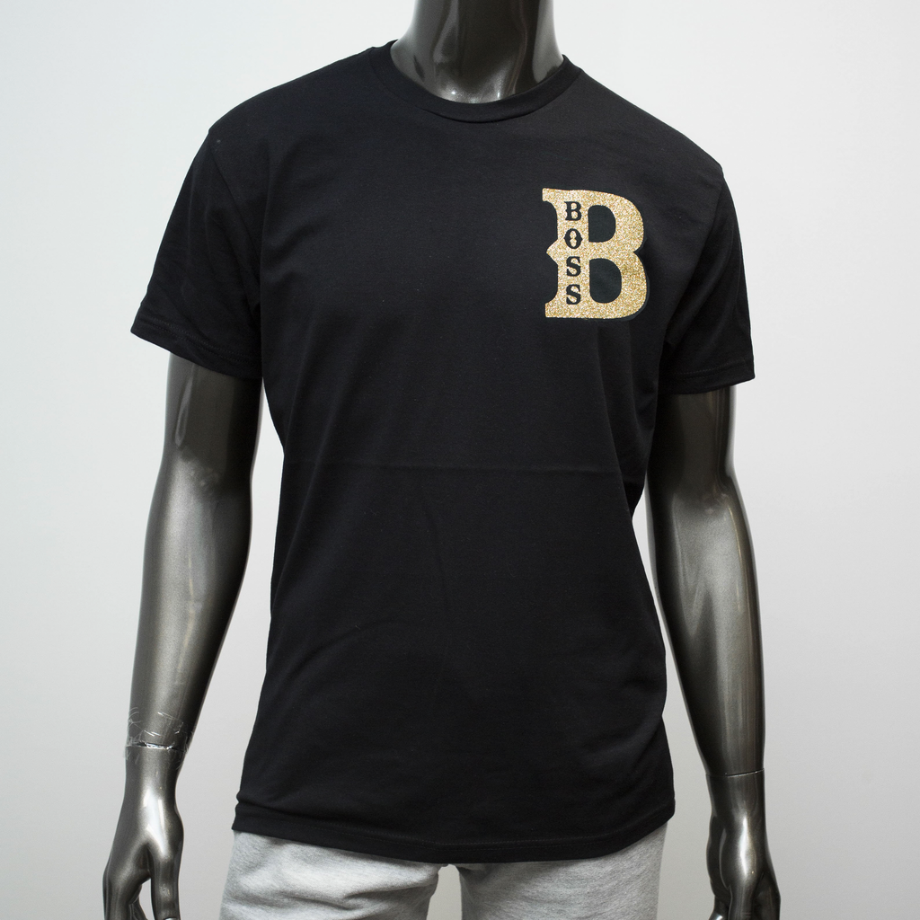 "BossLife ""Boss"" Tee - Black/Gold"