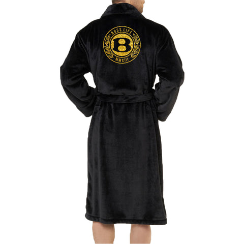 "BossLife ""Circle B"" Robe - Black/Gold"