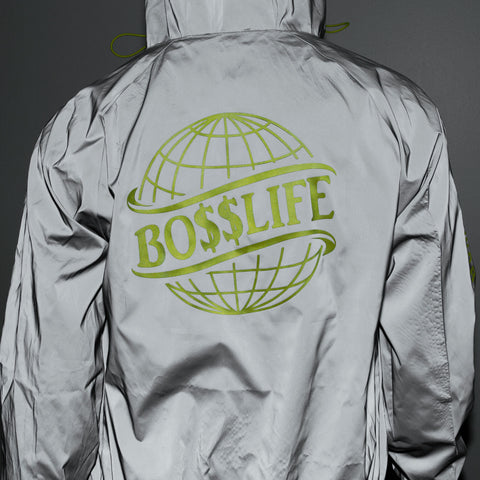 "BossLife ""The World is Yours"" Windbreaker - 3M/Yellow 3M"