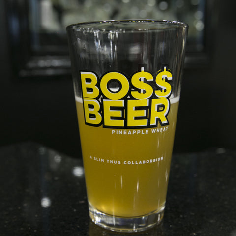 "BossLife ""BossBeer"" Glass Cup"