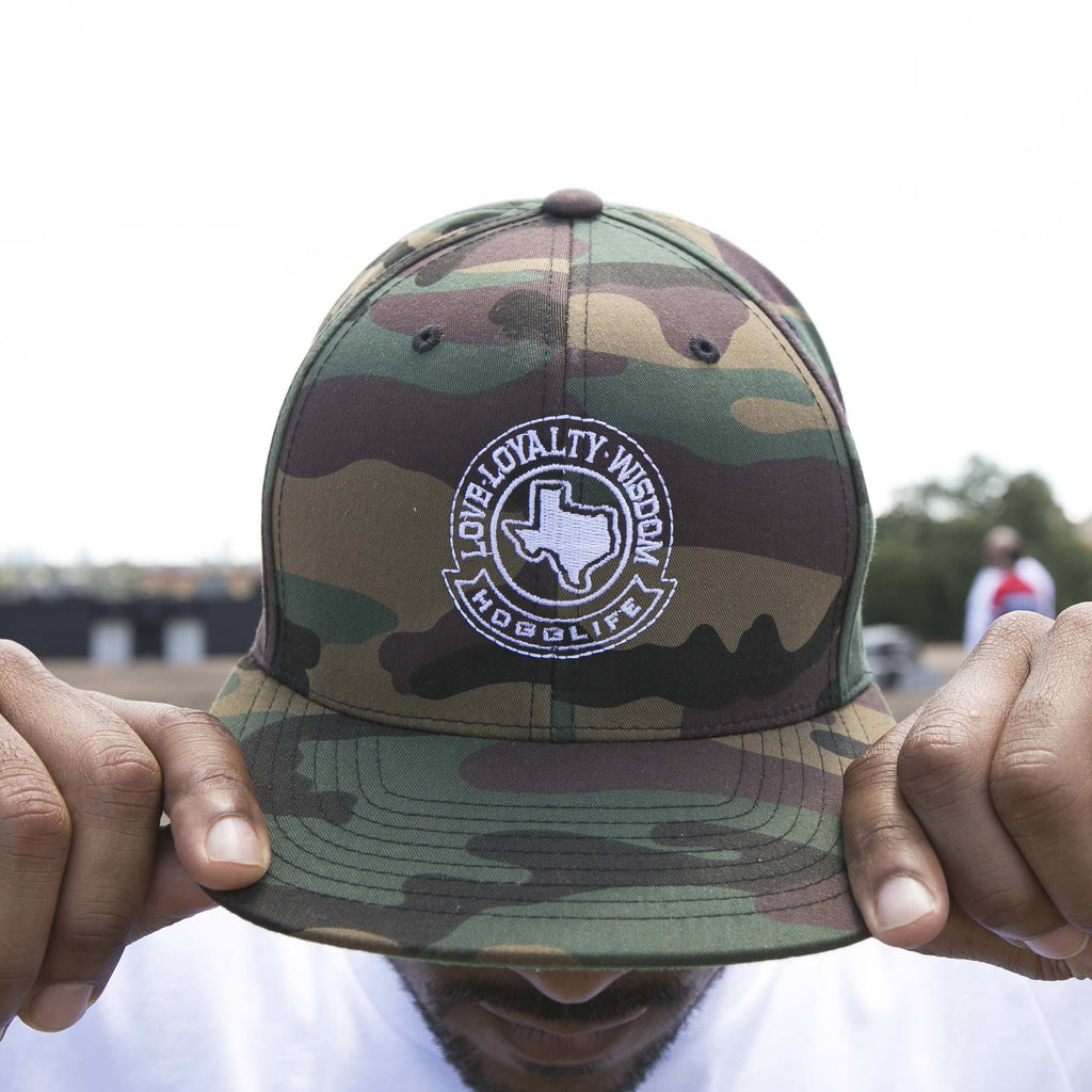 "HoggLife ""Loyalty/Wisdom"" Snapback - Camo/White"