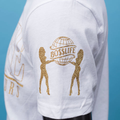 "BossLife ""World is Yours V2"" Tee - White/Gold"
