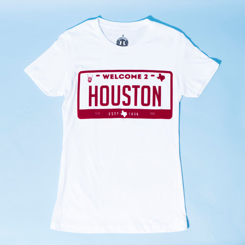 "HoggLife ""Welcome 2 Houston"" Women's Tee - White/Red"