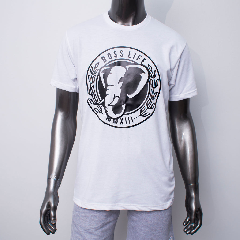 "BossLife ""Power"" Tee - White/Black"