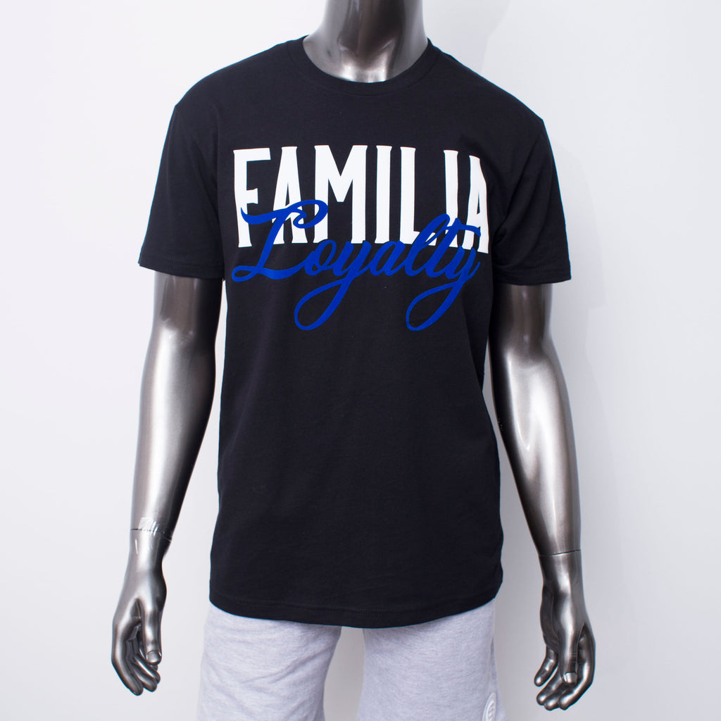 "BossLife ""Familia"" Tee - Black/Royal"
