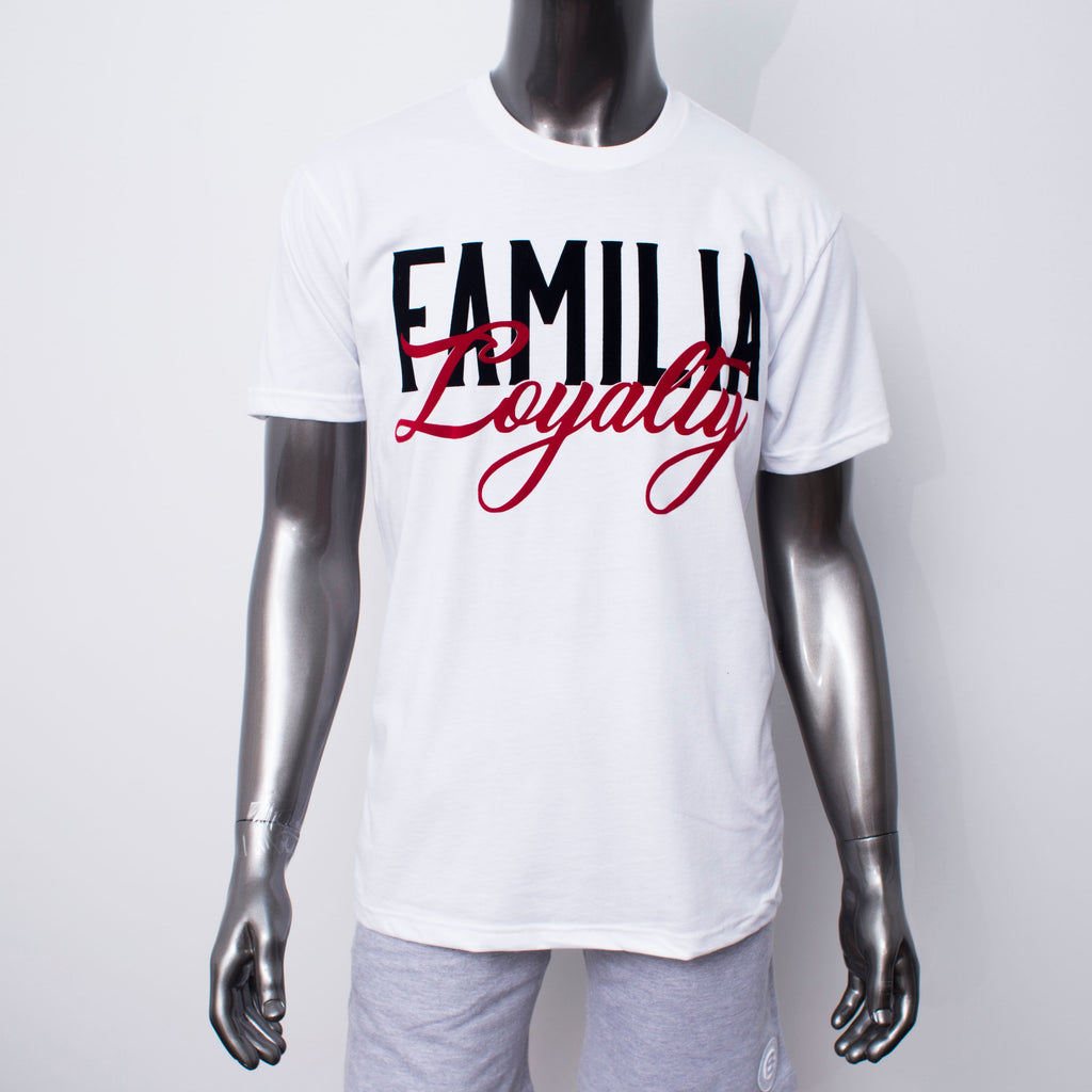 "BossLife ""Familia"" Tee - White/Red"