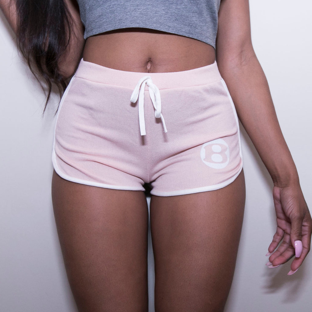 "BossLife ""B"" Shorts - Pink/White"