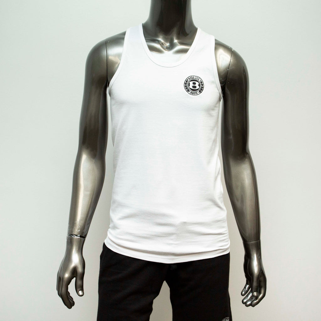 "BossLife ""Circle B"" Tank - White/Black"