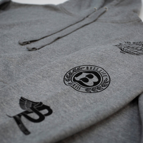 "BossLife ""Logos"" Hoodie + Jogger Set - Grey/Black"
