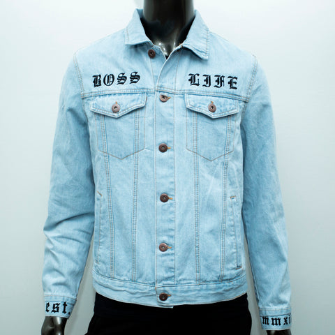 "BossLife ""OG"" Denim Jacket - Denim/Black"