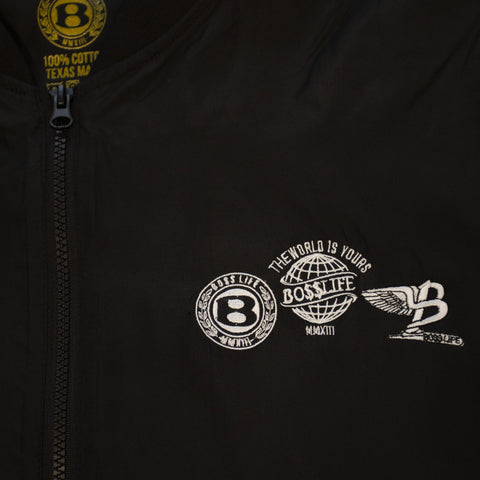"BossLife ""Logos"" Bomber Jacket - Black/White"