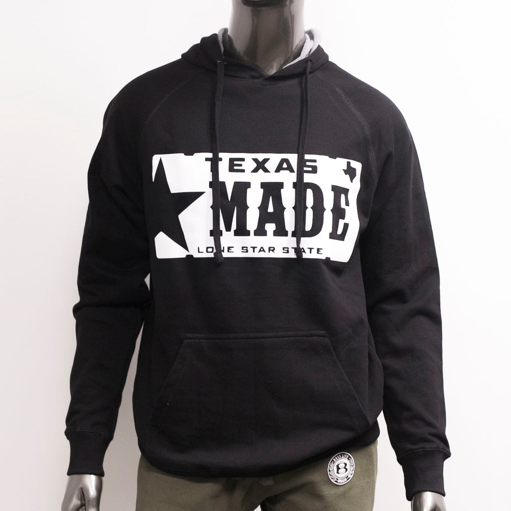 "HoggLife ""Texas Made"" Hoody - Black/White"