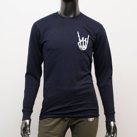"HoggLife ""Houston"" LongSleeve Tee - Navy/White"