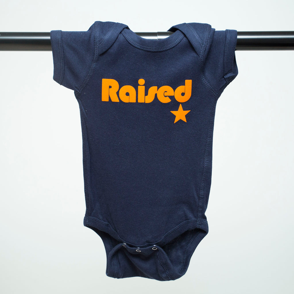 "HoggLife ""Raised"" Onesie - Navy/Orange"