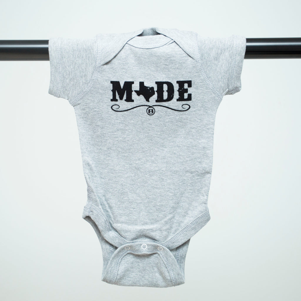 "HoggLife ""Made"" Onesie - Grey/Black"