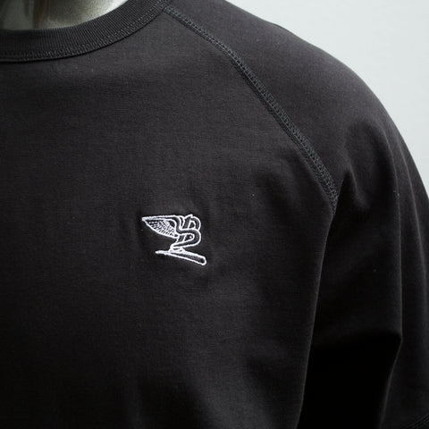 "BossLife ""Flying B"" Raglan Tee - Black/Embroidery"