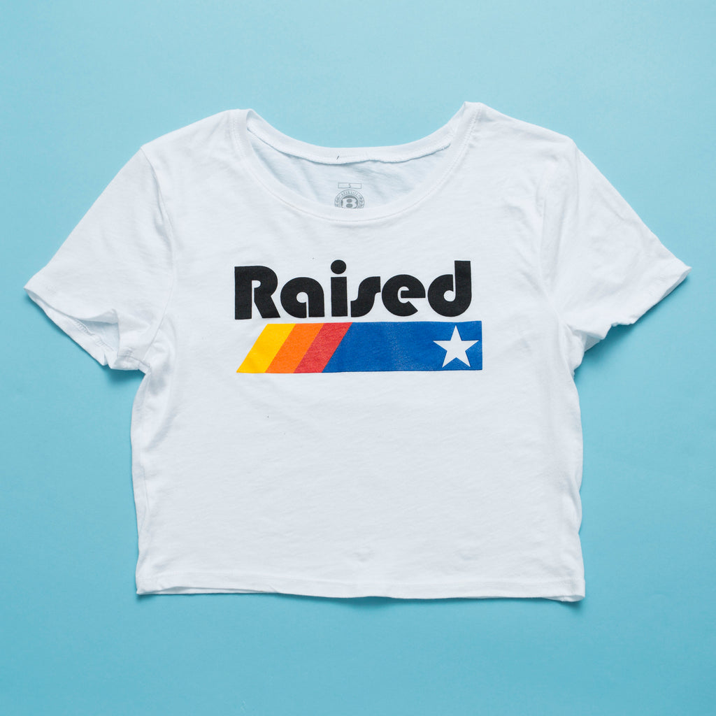 "HoggLife ""Raised"" Crop Top - White"