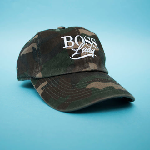 "BossLife ""BossLady"" Dad Hat - Camo"