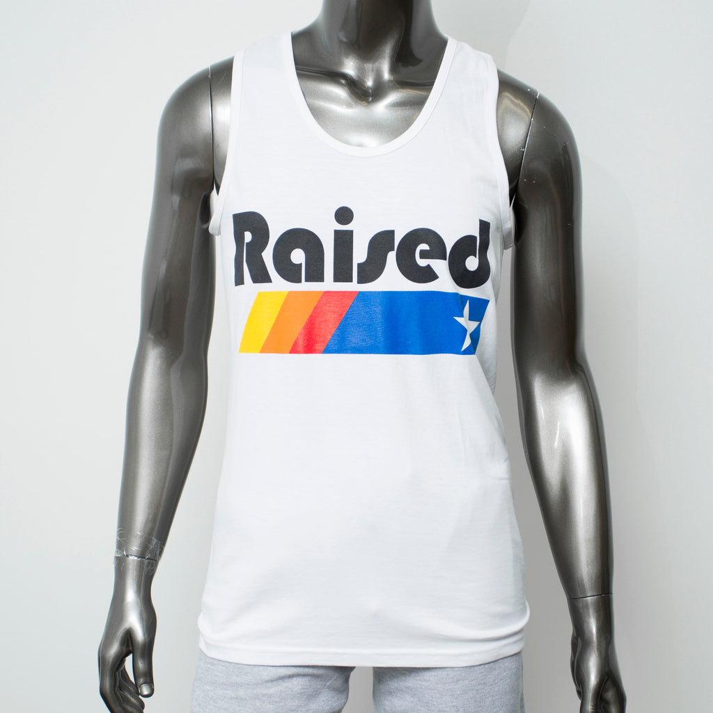 "HoggLife ""Raised"" Tank - White/Multi"