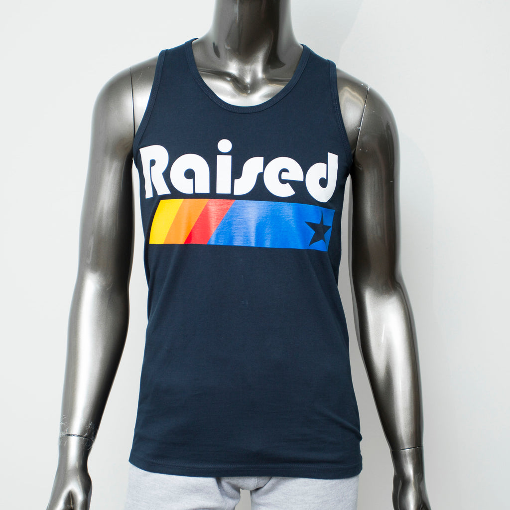 "HoggLife ""Raised"" Tank - Navy/Multi"