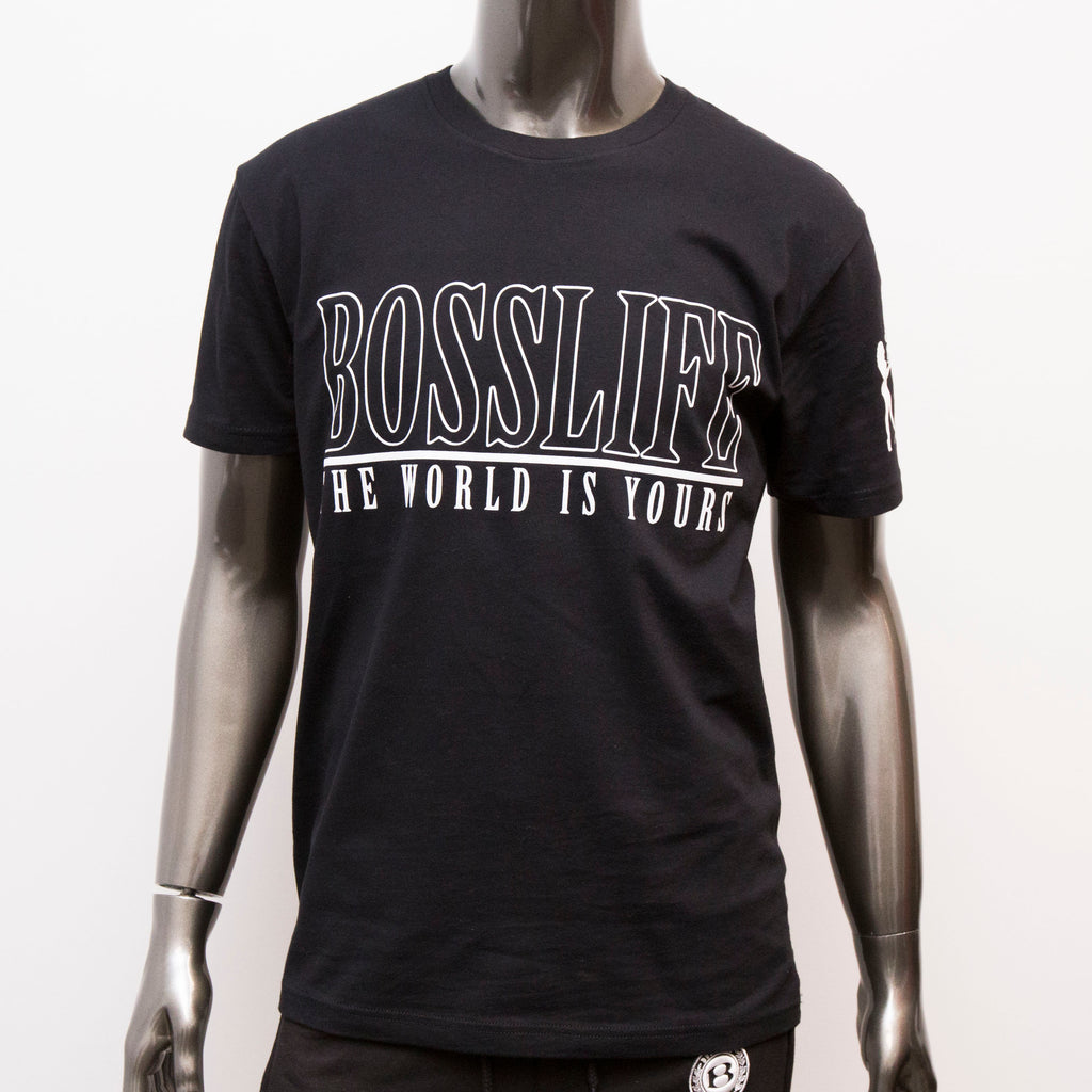 "BossLife ""The World is Yours V2"" Tee - Black/White"