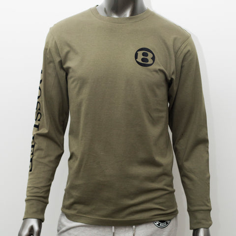 "BossLife ""B"" Long Sleeve - Olive/Black"