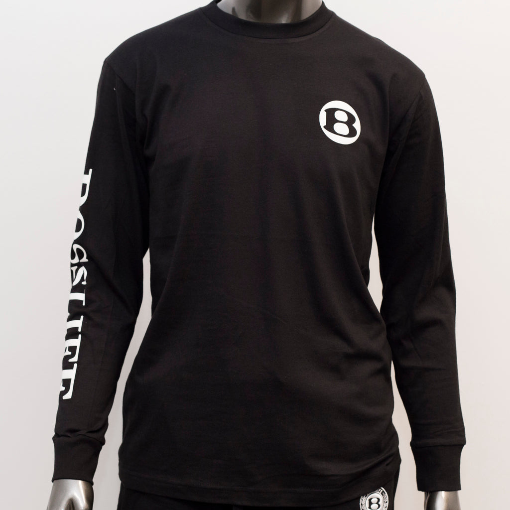 "BossLife ""B"" Long Sleeve - Black/White"