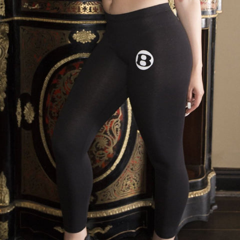"BossLife ""B"" Leggings - Black/White"