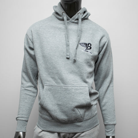 "BossLife ""Flying B"" Hoody - Grey/Black Embroidery"