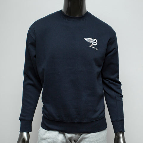 "BossLife ""Flying B"" Crewneck - Navy Embroidery"