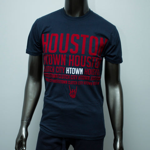 "HoggLife ""HTX"" Tee - Navy/Red/White"