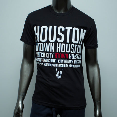 "HoggLife ""HTX"" Tee - Black/White/Red"