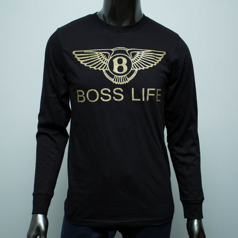 "BossLife ""Wings"" LongSleeve - Black/Gold"