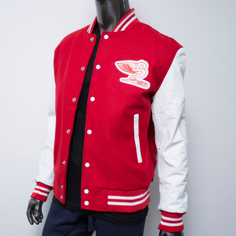 "BossLife ""Flying B"" Letterman Jacket - Red"