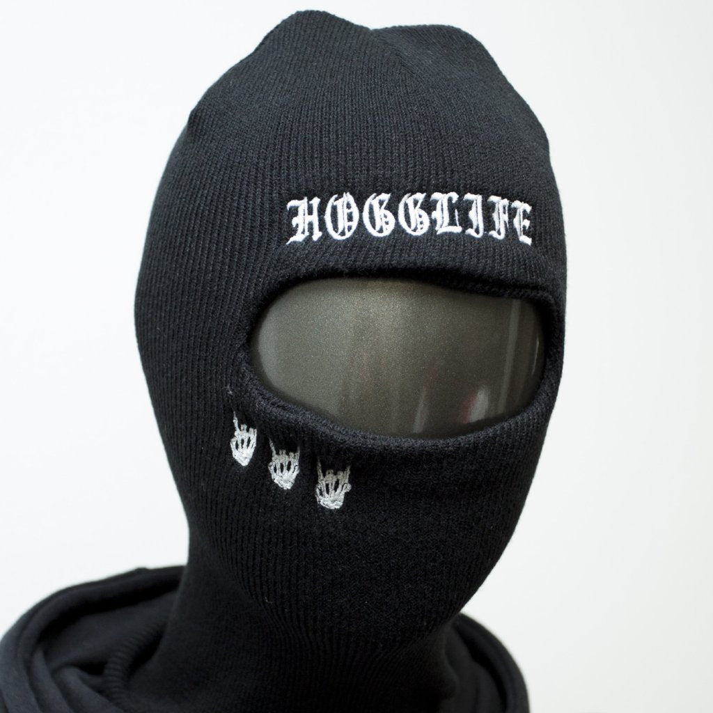 "Hogglife ""Motor"" Ski Mask - Black"