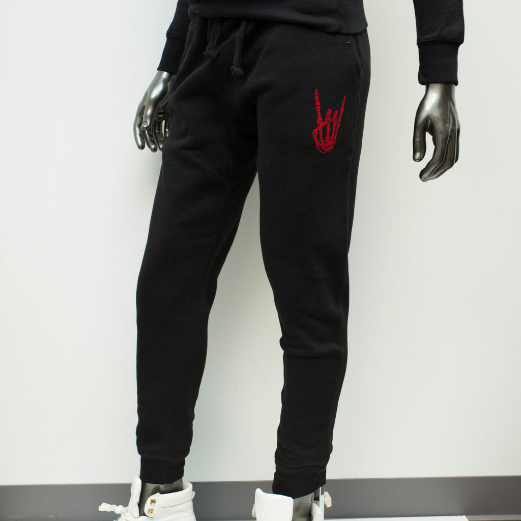 "HoggLife ""Motor"" Jogger - Black/Red"