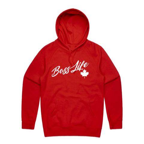"BossLife ""Canada"" Hoodie - Red/White"