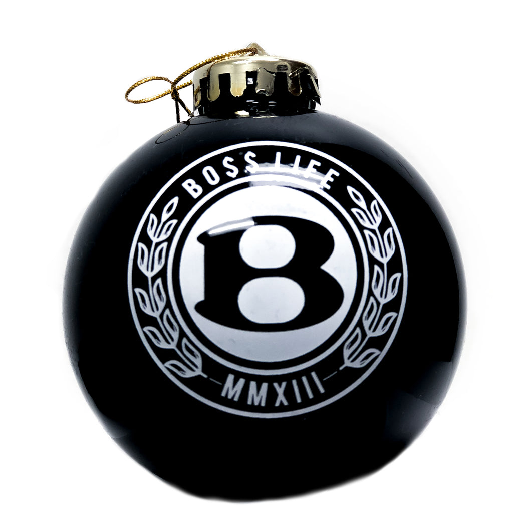 "BossLife ""Circle B"" Ornament - Black/White"