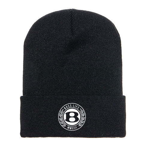"BossLife ""Circle B"" Beanie - Black/White"