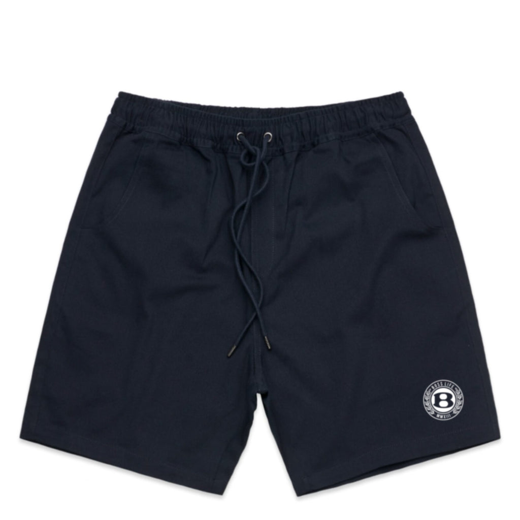 "BossLife ""Circle B"" Day Shorts - Navy/White"