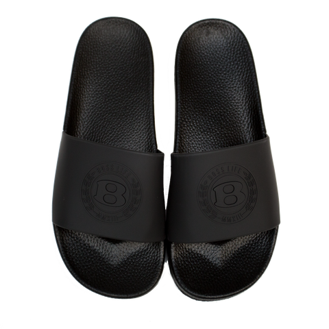 "BossLife ""Circle B"" Slides - Black/Black"