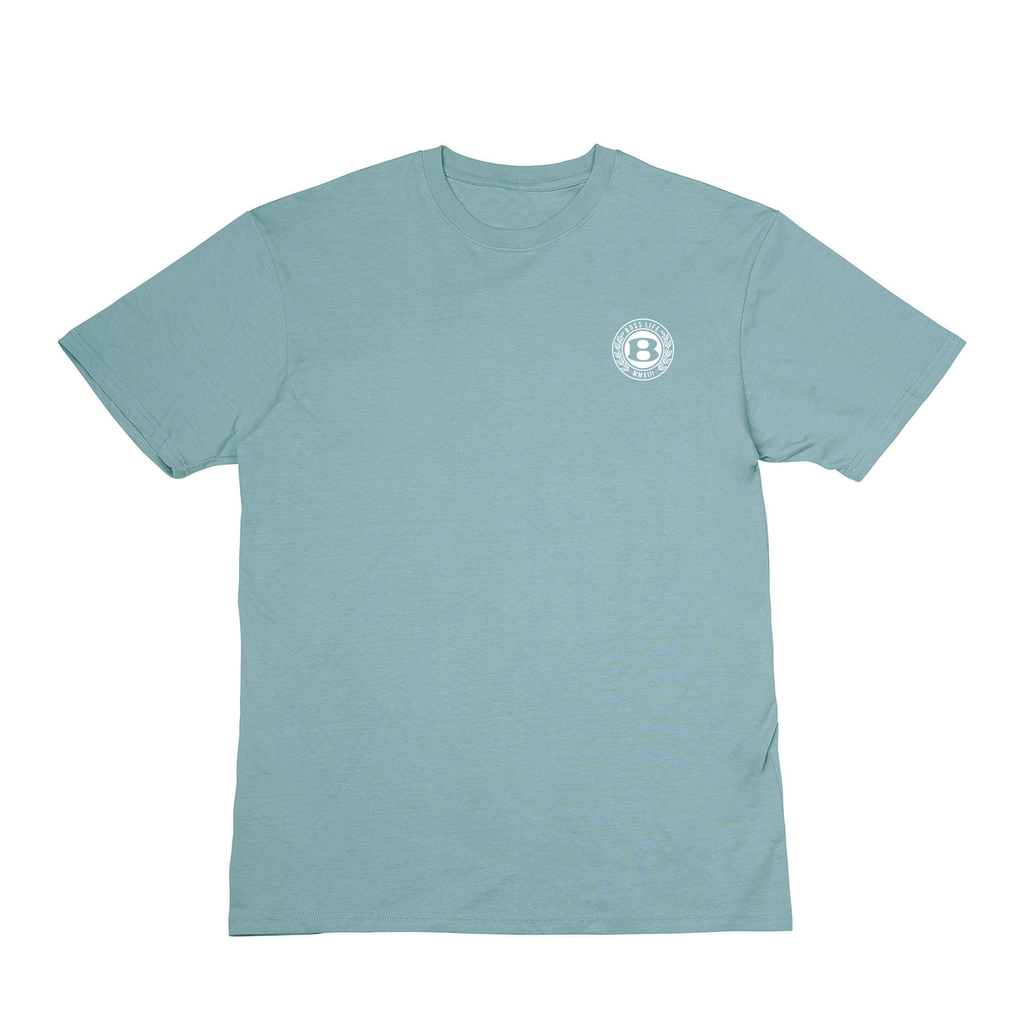 "BossLife ""Circle B"" Premium Tee - Teal/White"