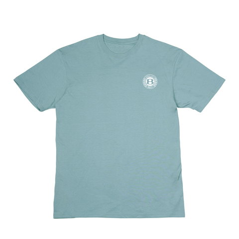 "BossLife ""Circle B"" Tee - Teal/White"