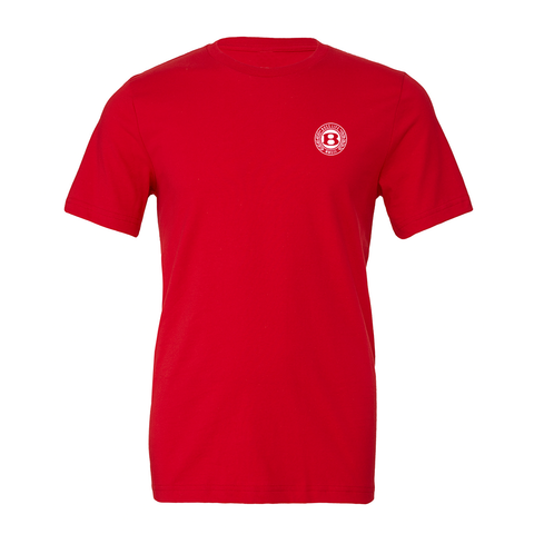 "BossLife ""Circle B"" Tee - Red/White"
